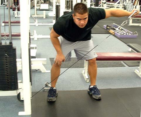 Pics photos bent over low pulley side lateral raises view image