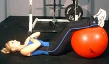 Exercise Ball Ab Crunches