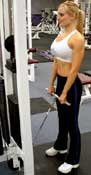 Reverse Cable Curl