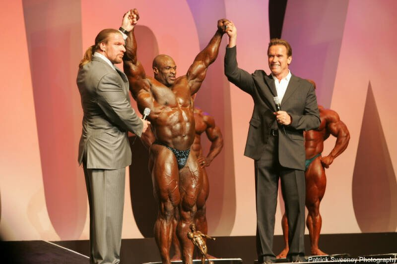 2004 Mr. Olympia Contest With Ronnie Coleman.