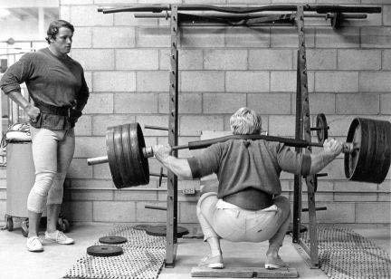 Arnold & Dave Draper Working Out.