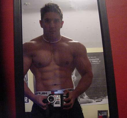 Guy Muscles Storkes On Webcam