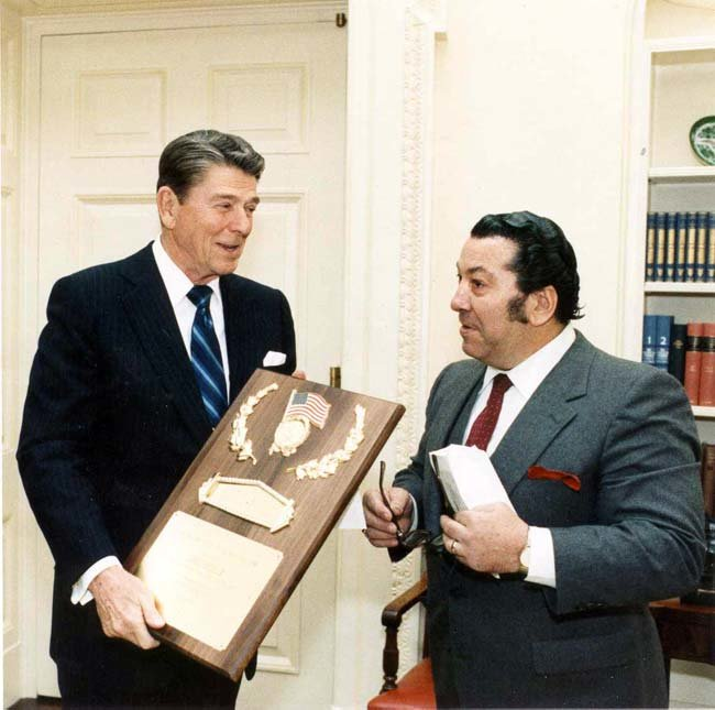 Dan Lurie With President Reagan