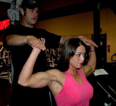 Start Of Tricep Extension