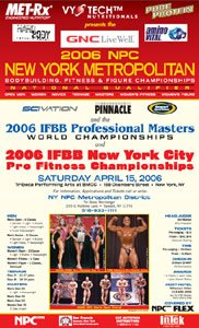 2006 IFBB New York Pro Fitness Flyer