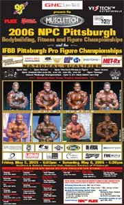 2006 Pittsburgh Pro Figure Championships Flyer