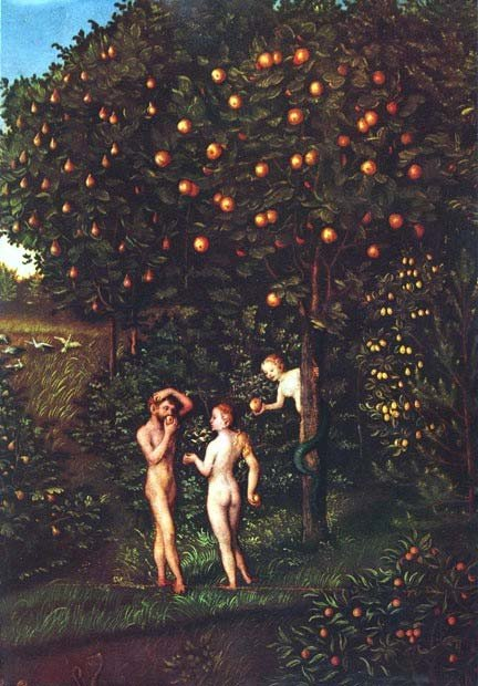 The Fall of Man by Lukas Cranach