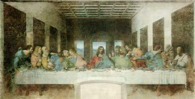 The Last Supper (1495-1498) by Leonardo da Vinci (1452-1519)