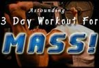 3-Day Workout Program For Quick Mass!