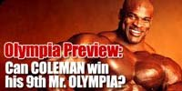 2006 Olympia Preview: Can Coleman Win His Ninth Mr. Olympia?