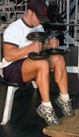 Seated Dumbbell Calf Raises