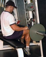 Seated Smith Machine Calf Raises