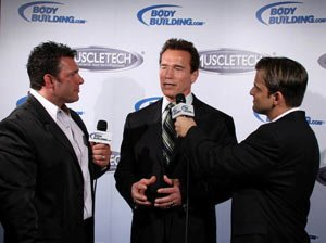 Arnold Schwarzenegger, Bob Cicherillo, and Dan Solomon!