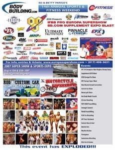 2007 14th Annual Sports Weekend & Europa IFBB Super Show