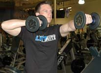 Standing Straight-Arm Dumbbell Presses