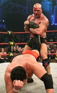 Kurt Angle And Samoa Joe