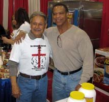 Anibal with Bill Grant.