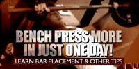 Bench Press More In Just One Day!