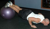 Toes On Fit Ball Push Ups