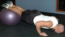 Fitball Push-Up + Jackknife Combo
