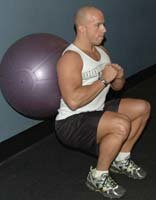 Isolation Wall Ball Squat