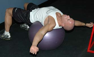 Lat Stretch On Fitball