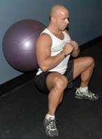 Wide Stance Wall Ball Squat