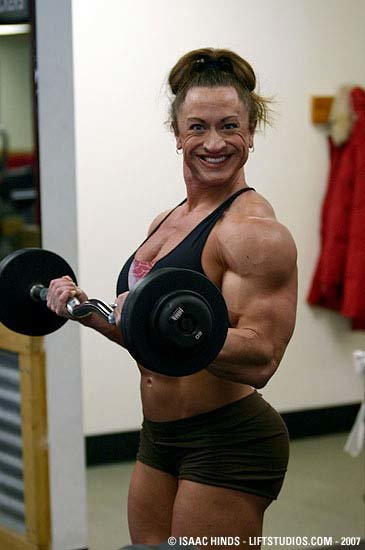 Heather policky arm training 3 weeks out from 2007 arnold
