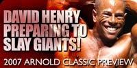 David Henry Preparing To Slay The Giants!