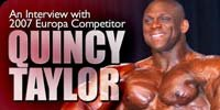 An Interview Quincy Taylor.