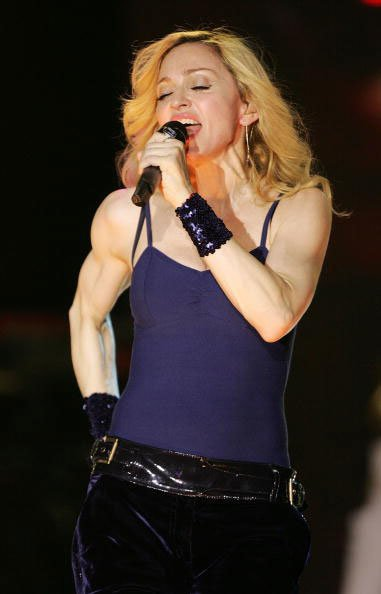 muscle arms Madonna