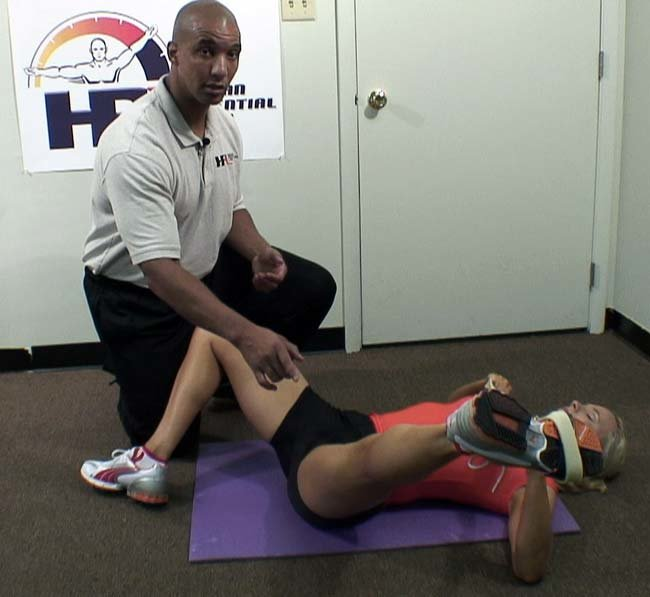 Upper Leg Stretches Utilizing A Resistance Band.
