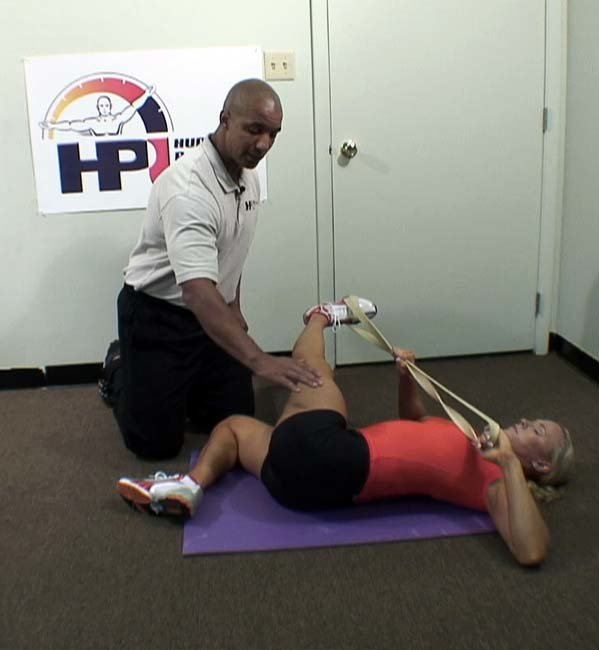 Upper Leg Stretches Utilizing A Resistance Band