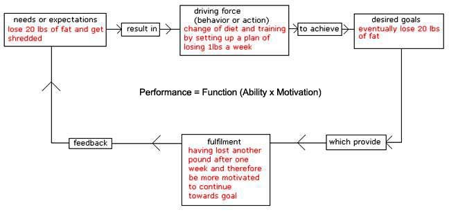 Figure 1: A Simplified Illustration Of The Basic Motivational Model Applied To A Fitness Goal