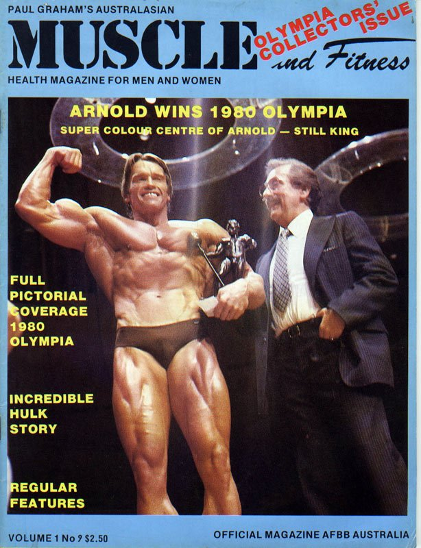 Arnold On The Cover<br>Of Muscle & Fitness