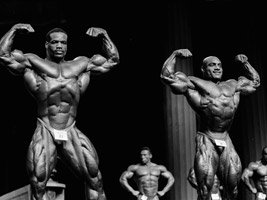Ernie Taylor & Chris Cormier At The 1998 Olympia.