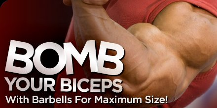 Bomb Your Biceps With Barbells For Maximum Size!