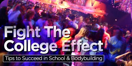 Fight the college effect tips to succeed in school and bodybuilding