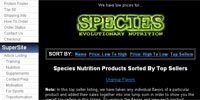 Species Nutrition Products Sorted By Top Sellers