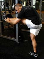 Incline Hurdler's Stretch
