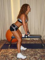 Standing Dumbbell Row