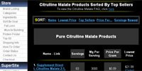 Citrulline Malate Products Sorted By Top Sellers