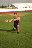 Alternating Walking Backward Twisting Lunges
