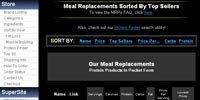 Meal Replacements Sorted By Top Sellers