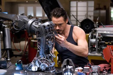 Pleasant Pumping Iron With Robert Downey Jr The Silver Screens Iron Man Hairstyles For Women Draintrainus