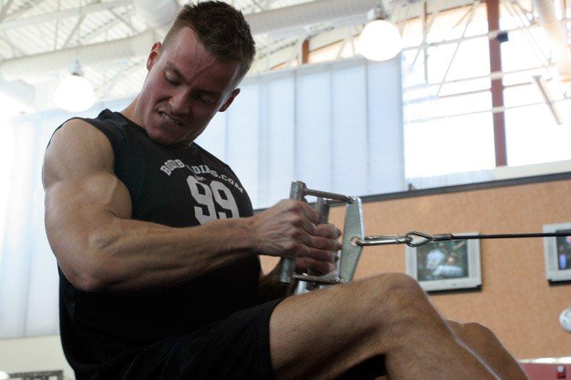 Man workout out