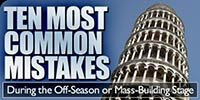 10 Most Common Mistakes During The Off-Season Or Mass-Building Stage