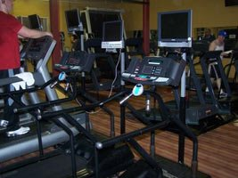 We Just Added A Set Of Machines That Is A Treadmill With A Personal Entertainment Screen.