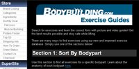 Exercise Guide Database