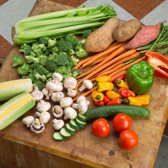 There are many different kinds of vegetables
